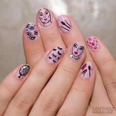 """MUA-Inspired"" NAIL ART #pink #maryamnyc #naialrt"