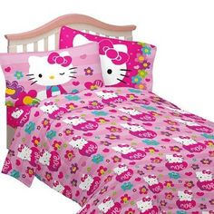 Bed Sheets http://www.welovekitty.com/hello-kitty-bed-sheets/