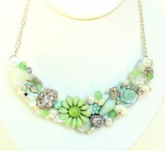 Hey, I found this really awesome Etsy listing at https://www.etsy.com/listing/127634174/mint-statement-necklace-mint-bib