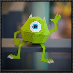 Monsters, Inc. - Mike Wazowski Free Disney Papercraft Download