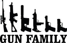Gun Family Decal:  Military Decals Gun Lover by TiffinsDesigns