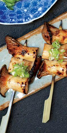 Vegan Yakitori recipe: Trumpet mushrooms are where it's at.
