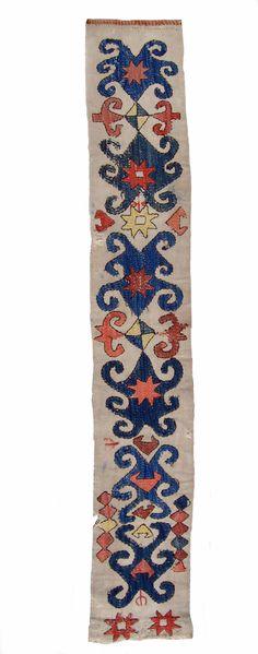 antique emroidered kilim fragment, Kungrat, Uzbekistan, XIXth century