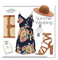 """#SummerWedding ⏳"" by ashleeyneeo on Polyvore featuring Joie, Gianvito Rossi, Lauren Ralph Lauren, Chanel, Daniel Wellington, Forever 21, Roberto Coin, floral and summerwedding"