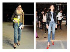 Акценты в образе: акцентные сумка и туфли + базовая одежда