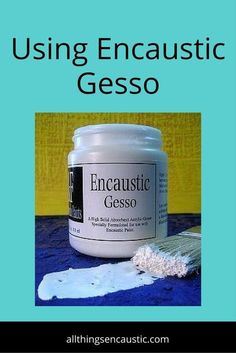 Prepare your substrates using gesso that is made for encaustic. Never use acrylic gesso. R&F makes a good encaustic gesso. Gesso Art, Encaustic Painting, Wax Art, Arte Country, Handmade Paint, Art Techniques, Art Tutorials, Art Images, Art Lessons