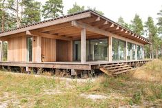 Wooden Summer House, Summer Houses, Retreat House, Screen House, Casas Containers, Passive House, Timber House, Cabin Homes, Sustainable Architecture