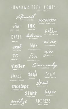 Handwritten fonts that are free