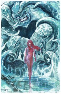 "Fan art of the day: ""The Little Mermaid"" byAaron McConnell"