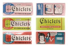 Old stuff - Chiclets Chewing Gum