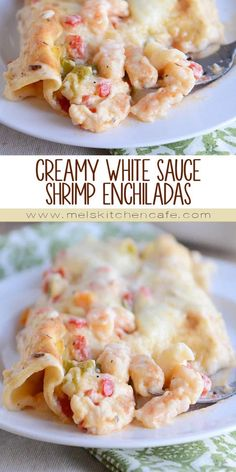 Shrimp and enchiladas? Yep, they are a thing! These delicious, creamy, cheesy, white sauce shrimp enchiladas are special occasion-worthy but also easy enough for a weeknight!