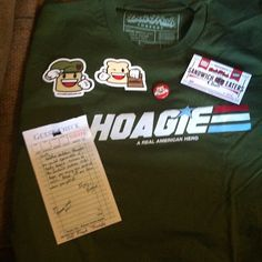 And this is my #delifreshthreads shirt I got. Came to me as if I ordered a sandwich bown bag and all. #americanhoagie #gijoes #branding