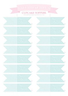 Free Printable Wedding Cupcake Toppers