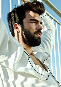 The hair is my style but if I could grow a beard, I'd want it ti look somewhat like this. I'd want it a bit cleaner.