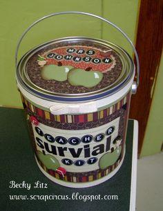 Teacher Survival Kit - with a cute poem