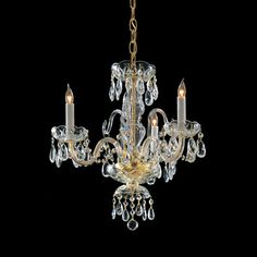 Traditional crystal chandeliers are classic, timeless, and elegant. Crystorama's opulent glass arm chandeliers are nothing short of spectacular. This collection is offered in a variety of crystal grades to fit any budget.