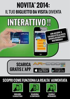 Biglietto da visita interattivo!  Chiedici come:info@ visualsolutions.it