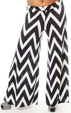 Amazon.com: Pinkclubwear Plus Size Black Taupe Chevron Print Stretch Wide Leg Pants: Clothing Short Outfits, Summer Outfits, Cute Outfits, Wide Leg Pants, Black Pants, Pink Clubwear, Black Chevron, Stretch Pants, Plus Size Women