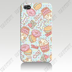 IZC1903  doughnut Hard plastic Cover Case For Iphone 4 4s Wholesale 10 pcs/lot Free Shipping to US $24.30