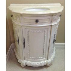 Bu0026I Direct Imports Josh Single Demilune Bathroom Vanity Set