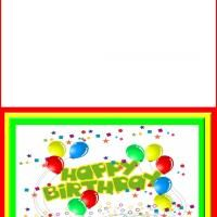 Colorful Birthday Card - this is a free printable template for you to print from your own computer! Check out more awesome content to print for free @ freeprintable.com!