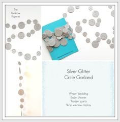 6m Glitter Silver Circles Paper Garland by TheRainbowPaperie