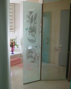 hummingbird frosted glass window - Google Search