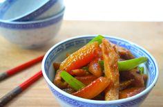Watermelon Rind and Pork Stir Fry \ RECIPE | Dumpling Sisters (proberen met kip)