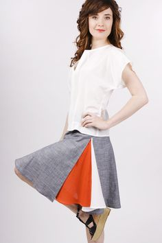 Purchase from Anna Brown SS12 collection $172 or duplicate color block skirt panels