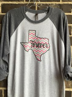 A personal favorite from my Etsy shop https://www.etsy.com/listing/458957194/free-shipping-texas-forever-chevron