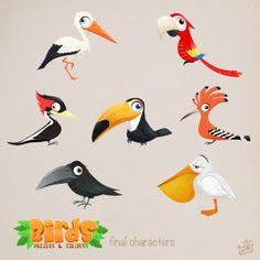 Game art: Birds by Giulia Tolino, via Behance