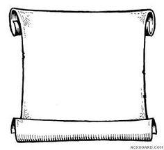 free printable blank scroll template
