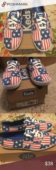 Champion America R/W/B Keds Champion America R/W/B Keds. Women's Size 8M. With Original Box Keds Shoes Sneakers