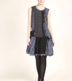 Desigual Tartan Patch Dress
