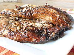 Crock Pot Balsamic Chicken Breasts | SugarFreeMom.com