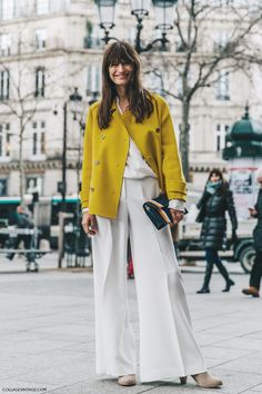 PFW-Paris_Fashion_Week_Fall_2016-Street_Style-Collage_Vintage-Caroline_De_Maigret-Isabel_Marant-Yellow_Blazer-3
