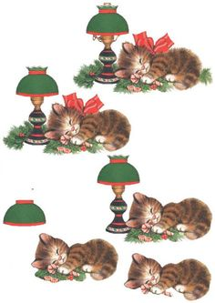 great idea for a 3d kitten xmas card!