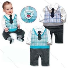 Boy Baby Formal Suit Romper Pants 0-18M One-piece Jumpsuit Clothes #OutfitsSets