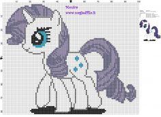 Schema punto croce Rarity (My Little Pony) 100x82 5 colori.jpg