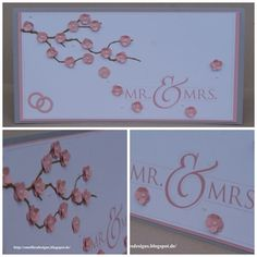 Stampin Up , Mr & Mrs. Hochzeit , Wedding , Card , Karte , Kirschblüte, Itty Bitty, Digital Studio