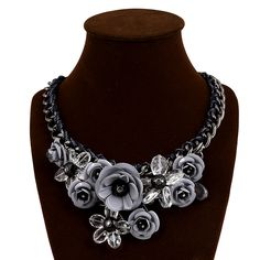 Cheap fashion statement necklace, Buy Quality statement necklace directly from China choker fashion necklaces Suppliers: Hot Sale 2014 Choker Necklace Women New Fashion Jewelry Resin Crystal Flower Statement Necklaces & Pendants Fashion Necklace, Fashion Jewelry, Jewelry Box, Jewelry Accessories, Jewellery, Flower Choker, Crystal Flower, Cheap Fashion, Chokers