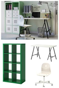Create the perfect workspace with a comfy chair, IKEA office furniture that keeps things organized, and the right lighting for the job.