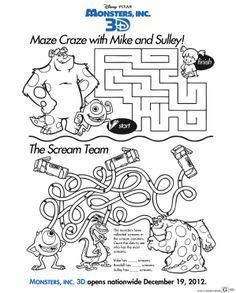 Monsters Inc. Maze Craze