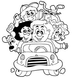 road trip usa coloring pages - photo#15