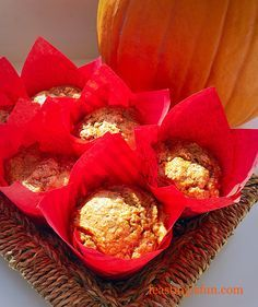 Spiced Pumpkin Walnut Muffins light moist fragrantly spiced tender pumpkin muffins studded with walnut pieces wholemeal flour makes these a healthier treat.