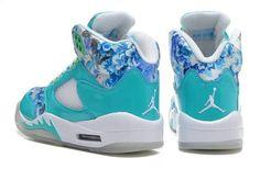 Girls Air Jordan 5 GS Blue Cherry Blossom For Sale | Jordan For Girls