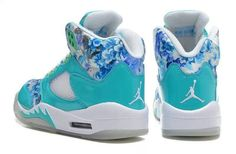 Girls Air Jordan 5 GS Blue Cherry Blossom For Sale | Jordan For Girls