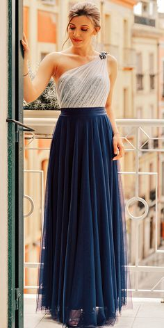 In Stock Excellent Tulle & Sequin Lace One Shoulder Neckline A-line Evening/Prom Dresses Evening Dresses, Prom Dresses, Formal Dresses, Lace Applique, Occasion Dresses, Party Dress, Fashion Dresses, One Shoulder, Tulle
