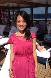 Vanny Chhan, Social Media Coordinator - aboard the beautiful Oceania Riviera.