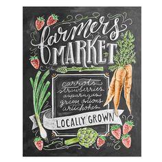 Spring Farmers Market - Print #Gifts #kitchen-art #New